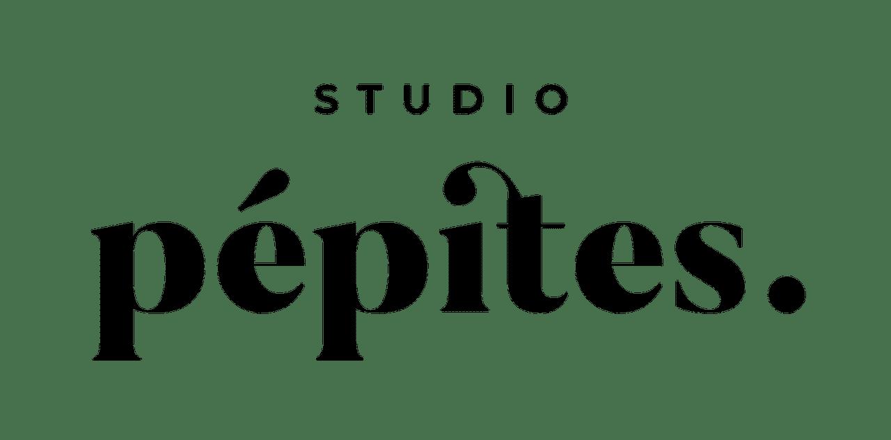 logo noir studio pepites